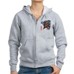 Snake and cherry Women's Zip Hoodie