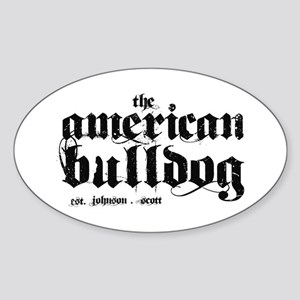 American Bulldog Sticker (Oval)