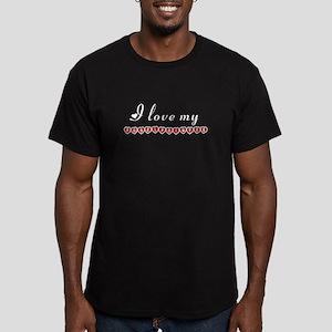 I love my Pudelpointer Men's Fitted T-Shirt (dark)