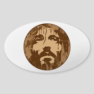 Face of Jesus Sticker (Oval)