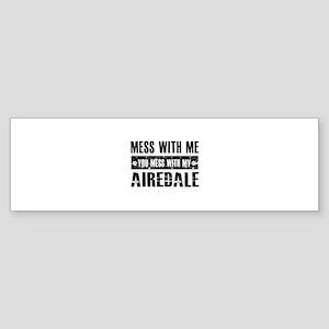 Funny Airedale Design Sticker (Bumper)