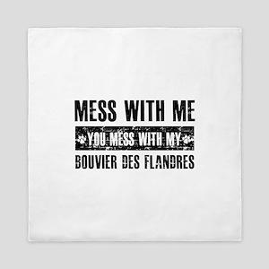 Funny Bouvier des Flandres design Queen Duvet