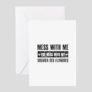 Funny Bouvier des Flandres design Greeting Card