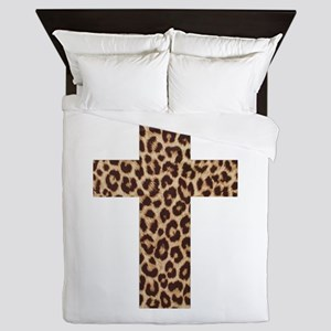 LEOPARD CROSS Queen Duvet