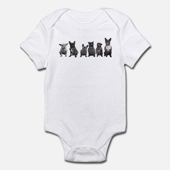French Bulldog Lineup Infant Creeper