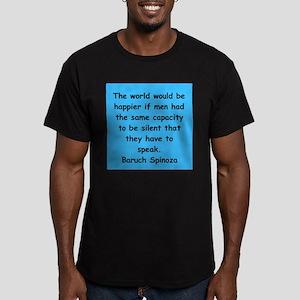 Spinoza Men's Fitted T-Shirt (dark)