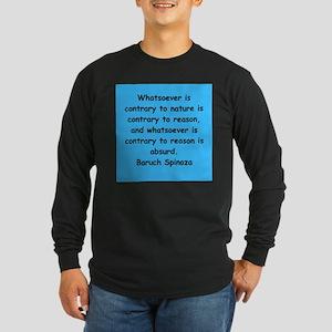 Spinoza Long Sleeve Dark T-Shirt