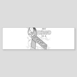 My Husband is a Survivor Sticker (Bumper)