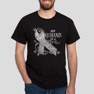 My Husband is a Survivor Dark T-Shirt