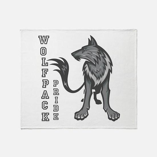 Wolf Pack Pride! Throw Blanket