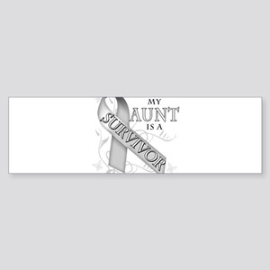 My Aunt is a Survivor Sticker (Bumper)