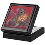 Mouse With Flowers Keepsake Box