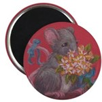 Mouse With Flowers Magnet