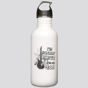 I'm Rockin' White for my Son Stainless Water Bottl