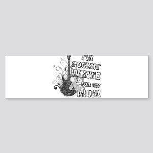 I'm Rockin' White for my Mom Sticker (Bumper)