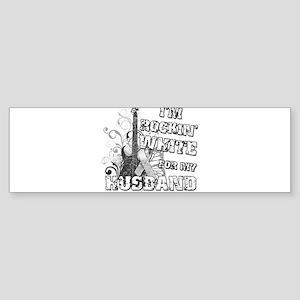 I'm Rockin' White for my Husb Sticker (Bumper)