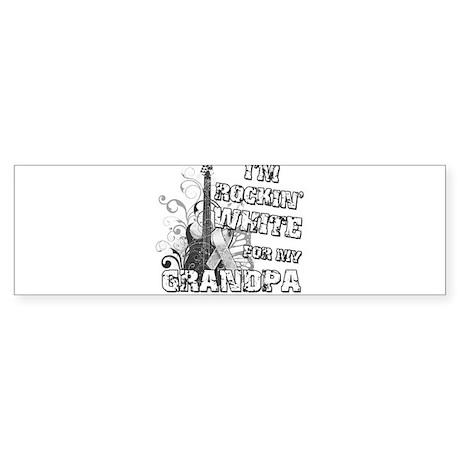 I'm Rockin' White for my Gran Sticker (Bumper)
