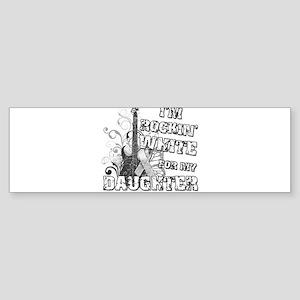 I'm Rockin' White for my Daug Sticker (Bumper)