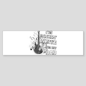 I'm Rockin' White for my Dad Sticker (Bumper)