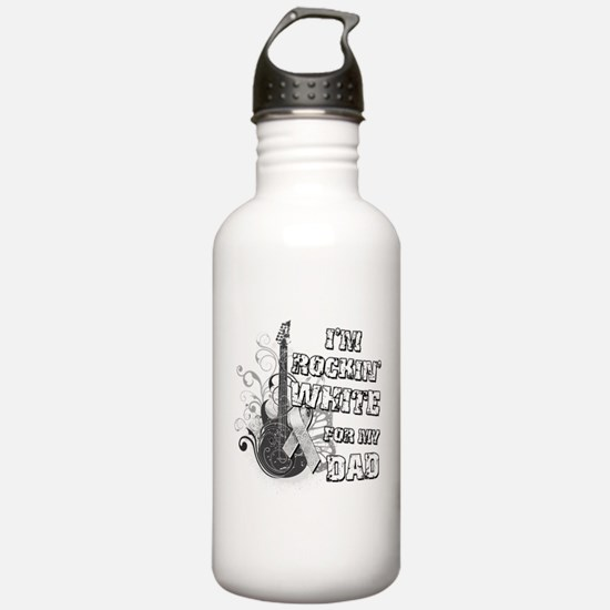 I'm Rockin' White for my Dad Water Bottle
