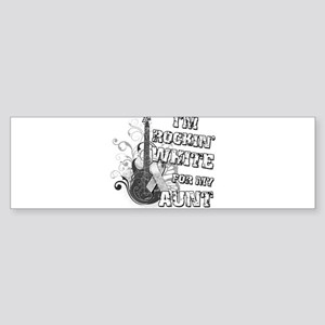 I'm Rockin' White for my Aunt Sticker (Bumper)