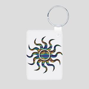 Sun Tye Dye Aluminum Photo Keychain