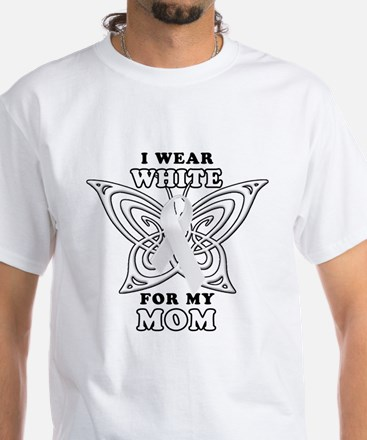 I Wear White for my Mom White T-Shirt