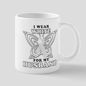 I Wear White for my Husband Mug