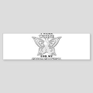 I Wear White for my Great Gra Sticker (Bumper)