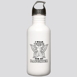 I Wear White for my Daughter Stainless Water Bottl