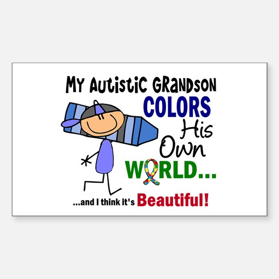 Colors Own World Autism Sticker (Rectangle)