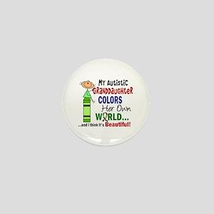 Colors Own World Autism Mini Button
