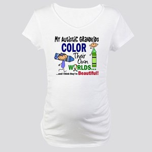 Colors Own World Autism Maternity T-Shirt