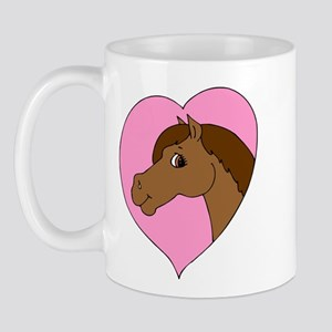 Pink I Love my Horse Mug