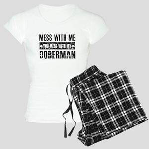 Funny Doberman Design Women's Light Pajamas