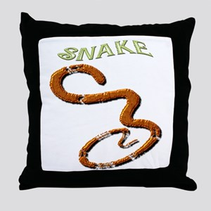 Brown Snake Throw Pillow