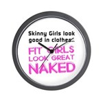 Fit girls look great naked Wall Clock