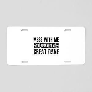 Funny Great Dane Design Aluminum License Plate