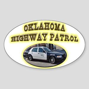 Oklahoma Highway Patrol Sticker (Oval)