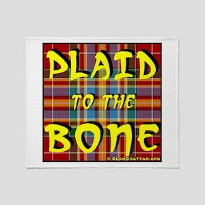 Plaid to the Bone Throw Blanket