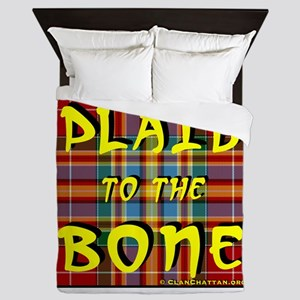 Plaid to the Bone Queen Duvet