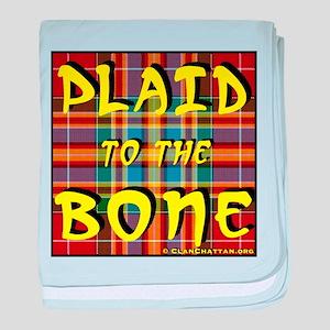 Plaid to the Bone baby blanket