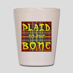 Plaid to the Bone Shot Glass
