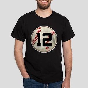Baseball Player Number 12 Team T-Shirt