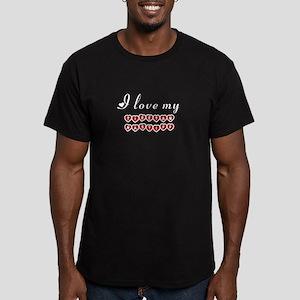 I love my Tibetan Mastiff Men's Fitted T-Shirt (da