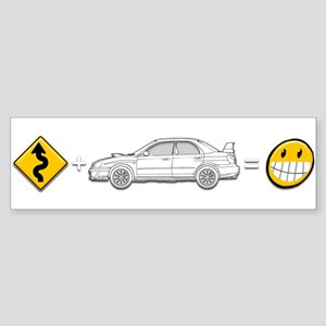 curves subaru fun Sticker (Bumper)
