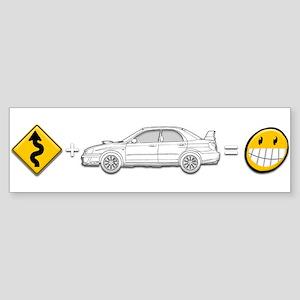 curves subaru fun Sticker (Bumper)