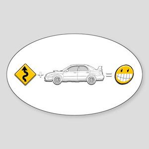 curves subaru fun Sticker (Oval)