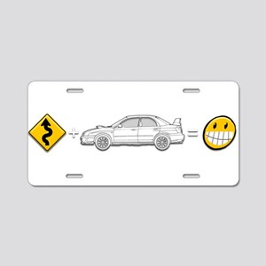 curves subaru fun Aluminum License Plate