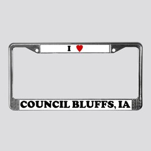 I Love Council Bluffs License Plate Frame